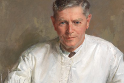 Sir Macfarlane Burnet 1960-61, by William Dargie (1912-2003), oil on composition board, Collection: National Portrait Gallery, Canberra, Purchased 1999