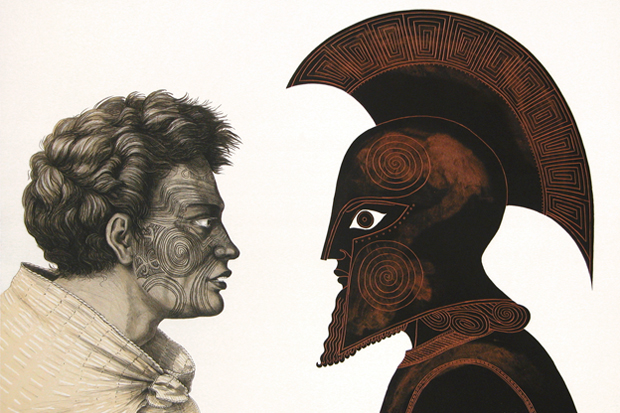 Ko wai Koe (Who Are You) 2005  from the series The Odyssey of Captain Cook by Marian Maguire