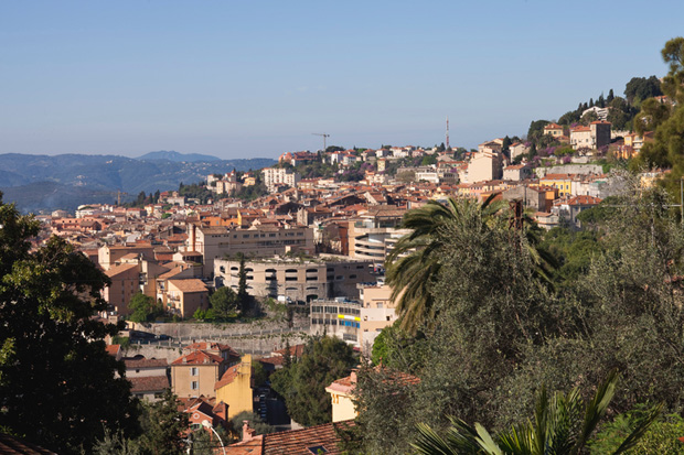 Village of Grasse in Morning Sunlight, Provence, France