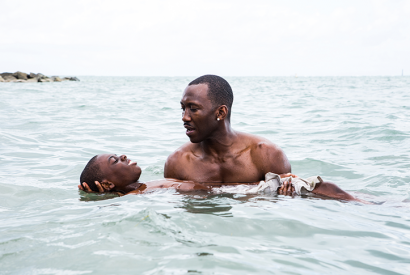 Alex R. Hibbert and Mahershala Ali in 'Moonlight'
