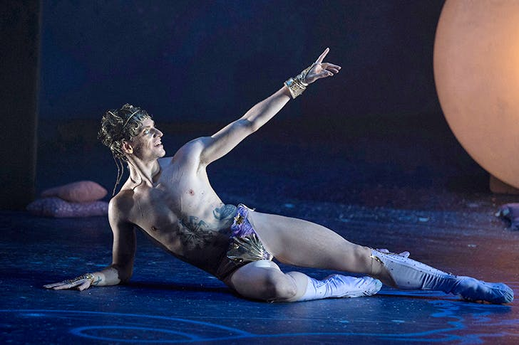 Sergei Polunin in his spangled merkin performing Narcissus and Echo at Sadler's Wells